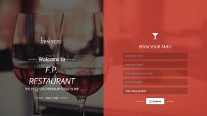DEMO réalisation landing page responsive style restaurant, vue adaptative 1366 x 768