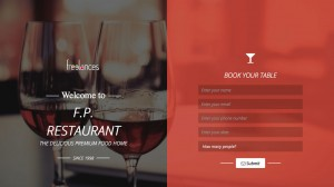 réalisation landing page responsive style restaurant