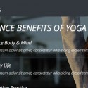 réalisation landing page responsive style yoga